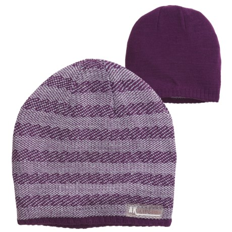 Jacob Ash Attakid Knit Beanie Hat - Reversible (For Toddler Girls)