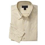 Scott Barber Small Check Sport Shirt - Long Sleeve (For Men)