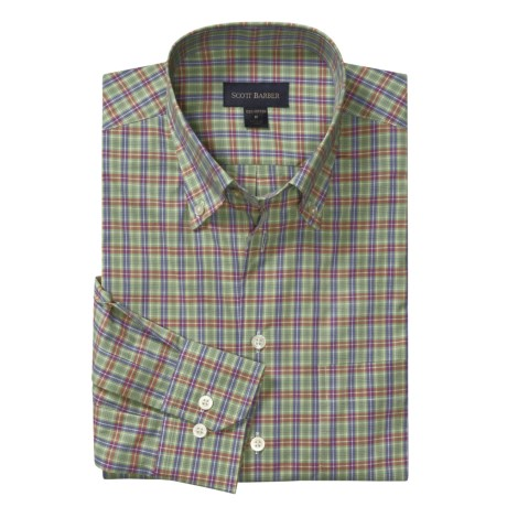 Scott Barber Cotton Sport Shirt - Button-Down Collar, Long Sleeve (For Men)