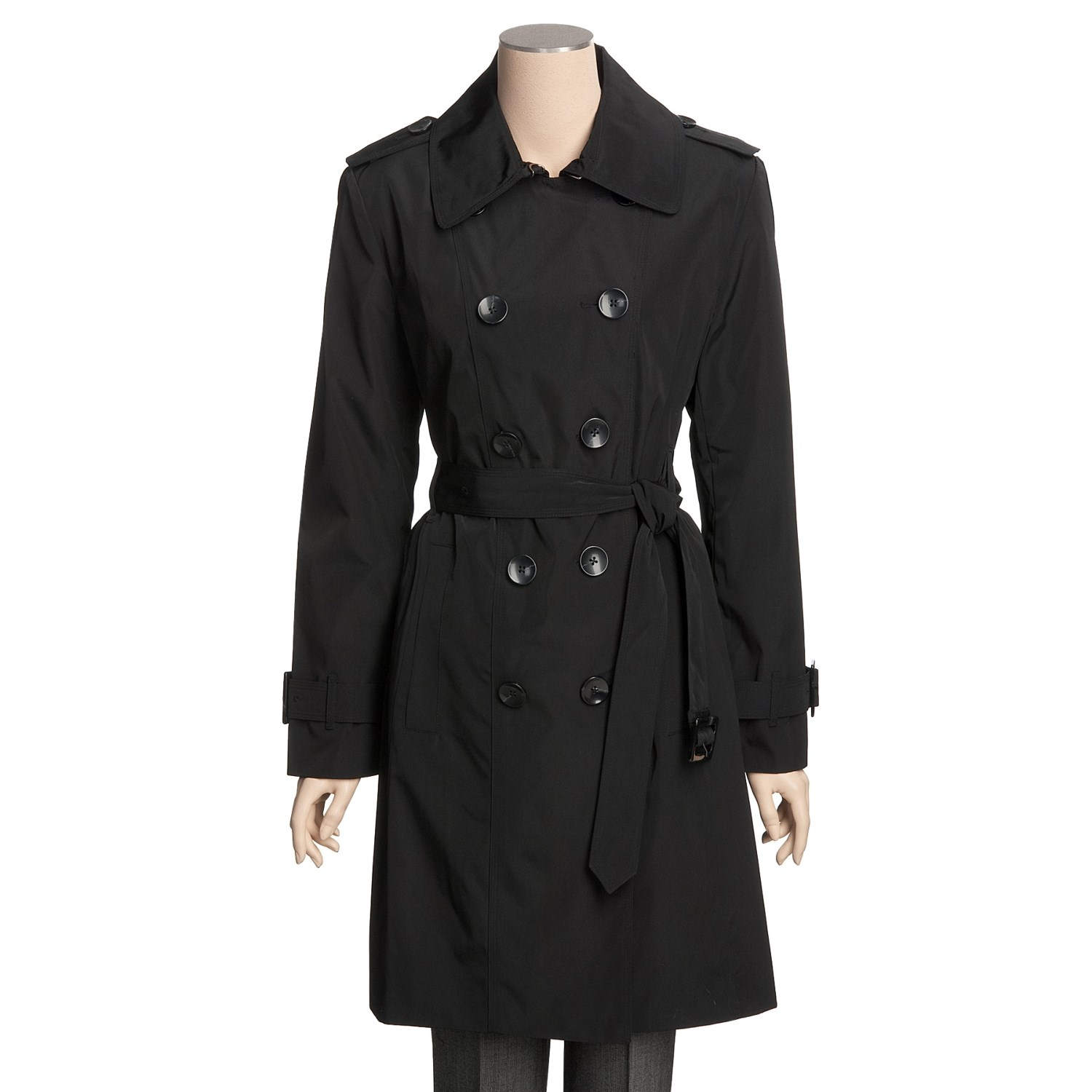 London Fog Faux Silk Trench Coat For Women 3494j Save 53
