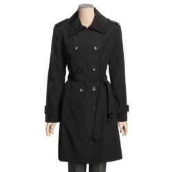 London Fog Faux-Silk Trench Coat - Zip-Out Liner (For Women)