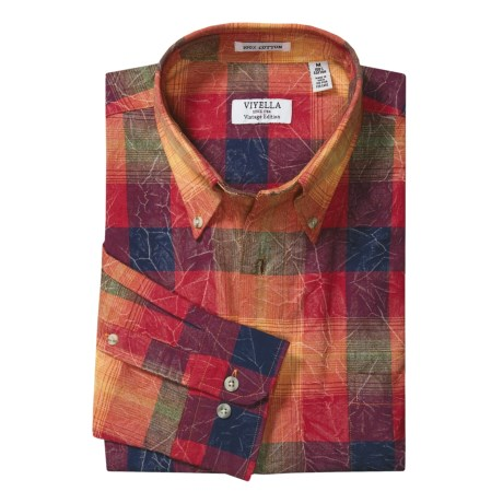 Viyella Cotton Plaid Shirt - Long Sleeve (For Men)
