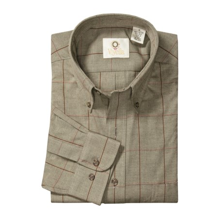 Viyella Windowpane Sport Shirt - Cotton-Merino Wool, Long Sleeve (For Men)