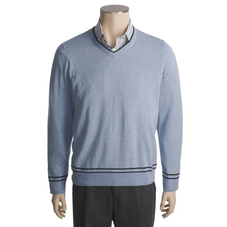 Report Collection V-Neck Sweater - Cotton-Silk-Cashmere (For Men)