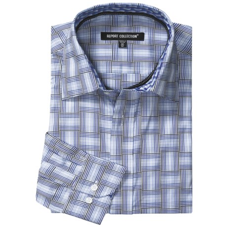 Report Collection Multi-Dimensional Gingham Shirt - Long Sleeve (For Men)