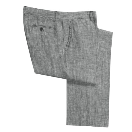 Report Collection Linen Classic Pants - Flat Front (For Men)