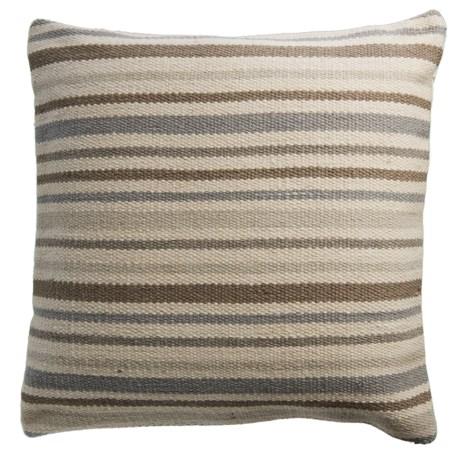 "Rizzy Home Neutral Stripe Decor Pillow - 20x20"""