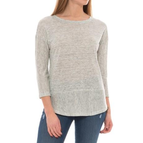 C&C California Drop-Shoulder Striped Tunic Shirt - Linen, 3/4 Sleeve (For Women)