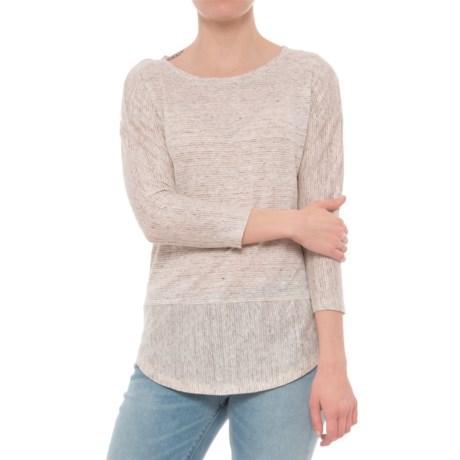 C&C California Drop Shoulder Striped Tunic Shirt - 3/4 Sleeve (For Women)