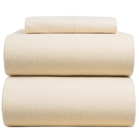 Azores Home Solid Flannel Sheet Set - Twin, Deep Pocket