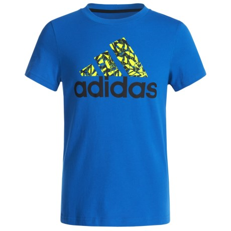 adidas Go-To Badge of Sport T-Shirt - Short Sleeve (For Big Boys)