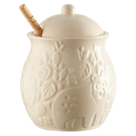 Rayware Group Mason Cash In the Forest Ceramic Honey Pot and Wooden Drizzler Set