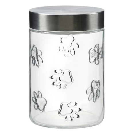 Global Amici Maxwell Glass Dog Treat Canister - 42 oz.