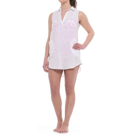 Forcynthia Beachwear Linen Cover-Up - Sleeveless (For Women)