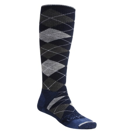 Lorpen Merino Wool-Argyle Snowboard Socks - Over-the-Calf, 2-Pack (For Men and Women)