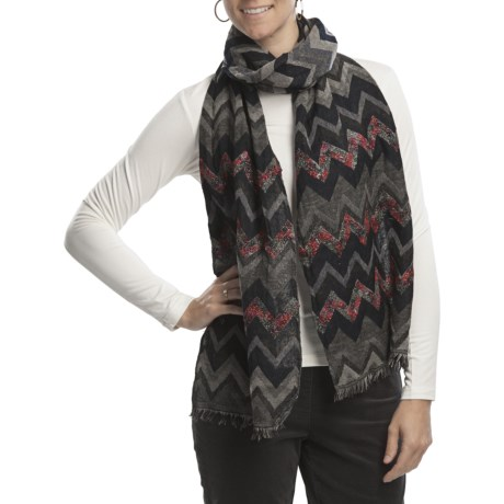 Asian Eye Montana Chevron Scarf - Wool (For Women)