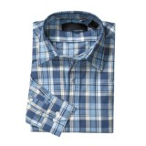 Specially made Plaid Woven Shirt - Cotton, Long Sleeve (For Men)