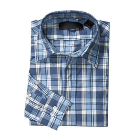 Plaid Woven Shirt - Cotton, Long Sleeve (For Men)