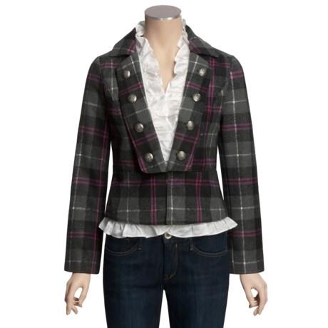 POP School Boy Coat - Button-Out Ruffle Trim (For Women)