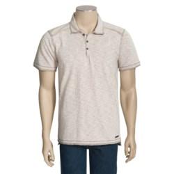 Jeremiah Amos Polo Shirt - Speckled Cotton Jersey Slub, Short Sleeve (For Men)