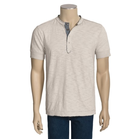 Jeremiah Buckley Henley Shirt - Slub Cotton Jersey, Short Sleeve (For Men)