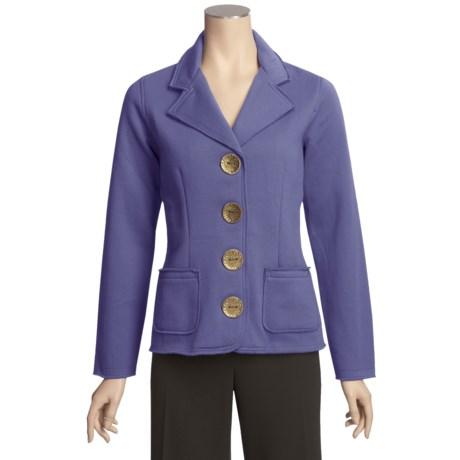 Neon Buddha Jacket - Fleece-Lined Knit (For Women)
