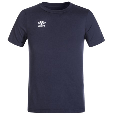 Umbro Logo T-Shirt - Cotton Blend, Short Sleeve (For Big Boys)