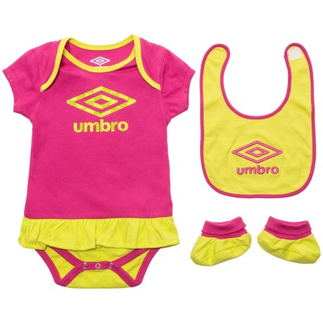 Umbro Creeper, Bib and Booties Set - 3-Piece (For Infants)