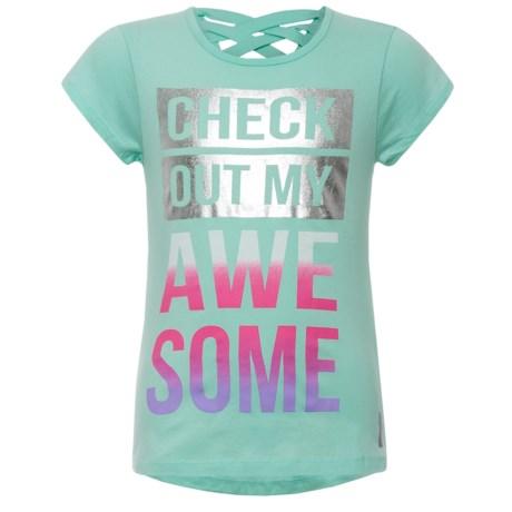 RBX Crisscross Graphic T-Shirt - Short Sleeve (For Big Girls)