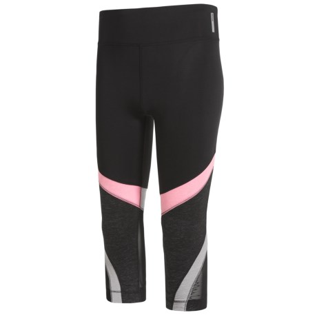 RBX Color-Block Capris with Power Mesh Inserts (For Big Girls)
