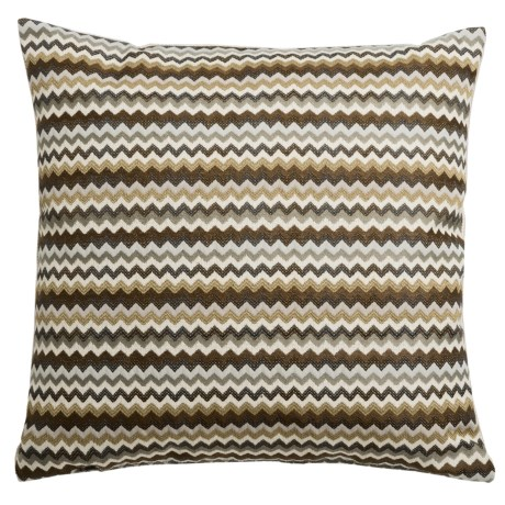 """Canaan Hiro Chenille Striped Decorative Pillow - 20x20"""", Feather-Down"""