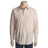 Roper Silver Lurex Stripe Shirt - Snap Front, Long Sleeve (For Men)