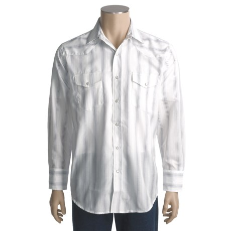 Roper Stripes and Checks Shirt - Long Sleeve (For Men)