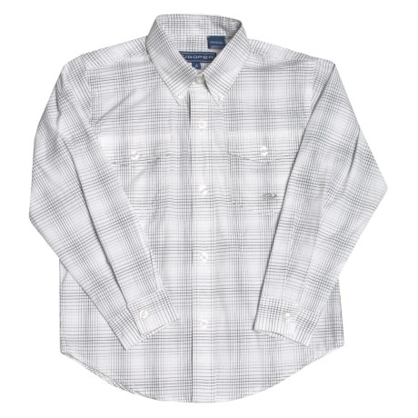 Roper Cotton Western Shirt - Long Sleeve  (For Little and Big Boys)