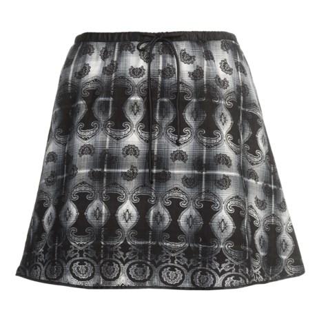 Stetson Overprinted Plaid Skirt (For Women)