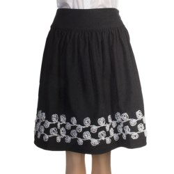 Stetson Lace-Embroidered Skirt - Wool Tweed (For Women)