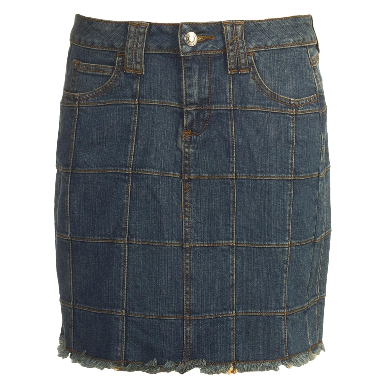 stetson stretch denim mini skirt for 3515a save 38