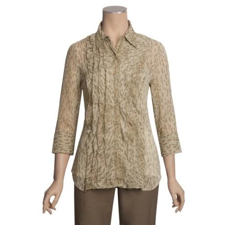Stetson Ruffled-Front Shirt - 3/4 Sleeve (For Women)