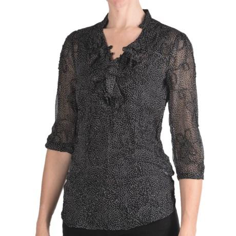 Stetson Textured Chiffon Shirt - 3/4 Sleeve (For Women)