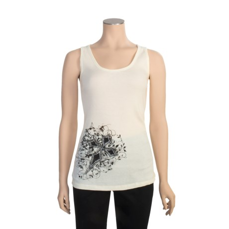 Roper Rhinestone Floral Tank Top (For Women)