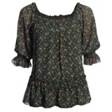 Roper Floral-Print Shirt - Scoop Neck, Short Sleeve (For Women)