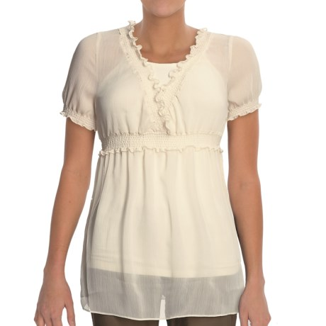 Stetson Sheer Crinkle Shirt - Short Sleeve (For Women)