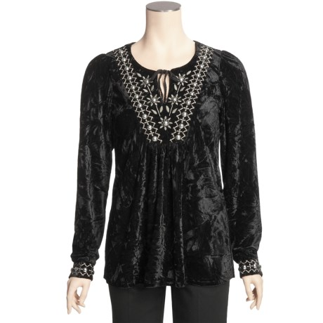 Roper Crushed Velvet Shirt - Long Sleeve (For Women)
