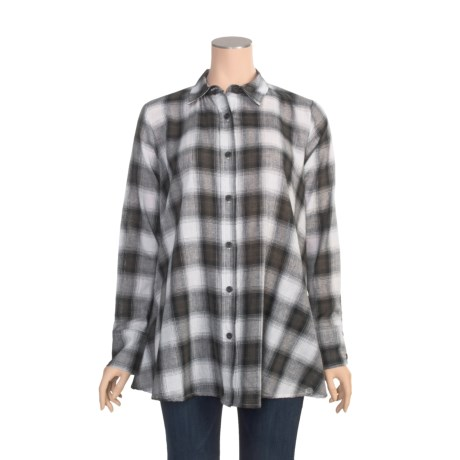 Roper Gauze Hombre Plaid Shirt - Long Sleeve (For Women)