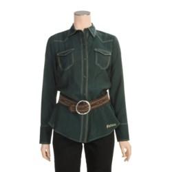 Stetson Cross-Dye Shimmer Shirt - Long Sleeve (For Women)