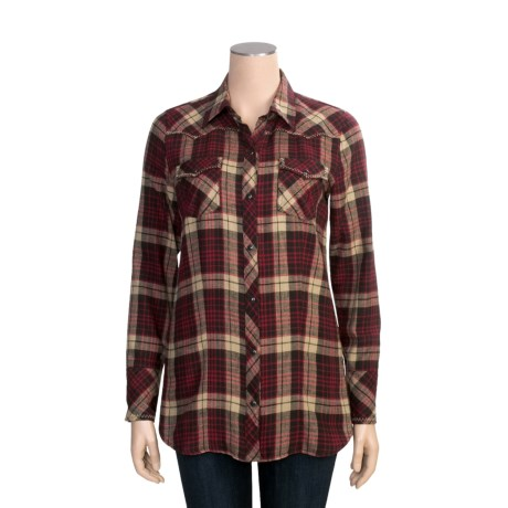 Stetson Plaid Shirt - Long Sleeve (For Women)