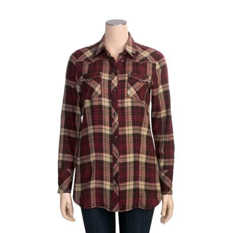 Stetson Plaid Shirt - Long Sleeve (For Women)