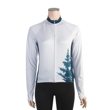 Pactimo Lookout Cycling Jersey - Full Zip, Long Sleeve (For Women)