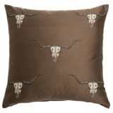 "Canaan Stampede Decorative Pillow - 24x24"", Feather-Down"