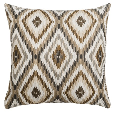 "Canaan Peninsula Mutli-Diamond Decorative Pillow - 24x24"", Feather-Down"